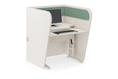 Mesa ergon mica para telemarketing bccmcp m veis de for Escritorio ergonomico
